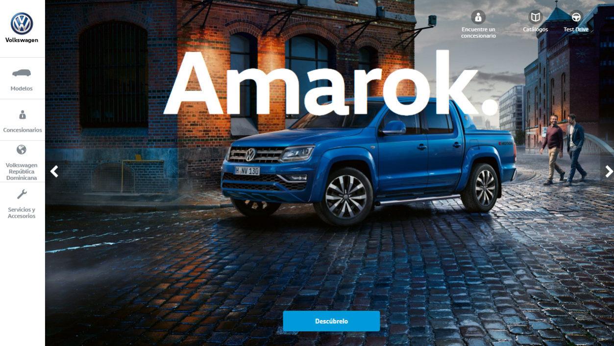 Página principal del website nuevo de Volkswagen RD